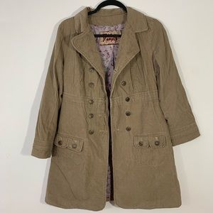 Free People . Button Front Corduroy Jacket . 8